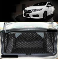 for durable wearable leather car trunk mat cargo liner for honda city 2014 2015 2016 2017 2018 2019 Grace accessories