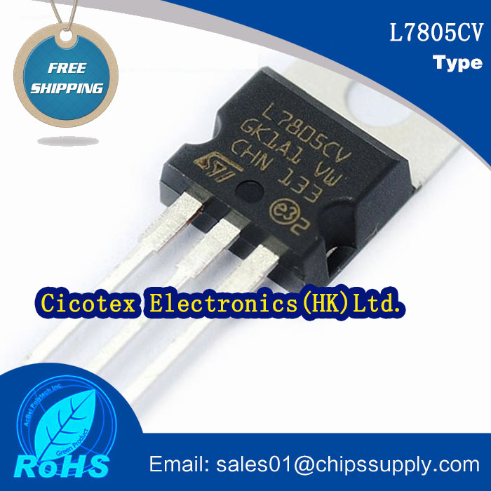20pcs/lot L7805CV Transistor Integrated Circuit Chips TO-220 IC REG LDO 5V 1.5A TO220AB L 7805 CV
