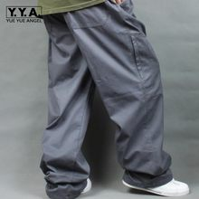 Big Size Men Hip Hop Loose Cargo Pants Cotton Baggy Sweatpants Army Trousers Wide Leg Military Tactical Pants Casual Streetwear(China)