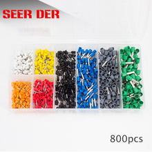 800pcs Electrical Bootlace Ferrules Kit Cable Wire Copper Crimp Terminals / wire ferrules crimp terminal connector