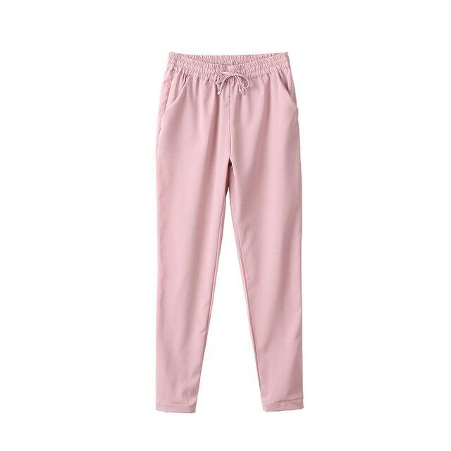 Spring 2021 women's trousers, harem pants, seven-color elastic waist women's trousers, lace-up casual women's pants, new product 1