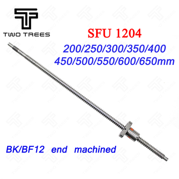 SFU1204-150/200/250/300/350/400/450/500/550/600mm Ball Screw Rolled C7 ballscrew with flange single ball nut for BK/BF10 (12mm) image