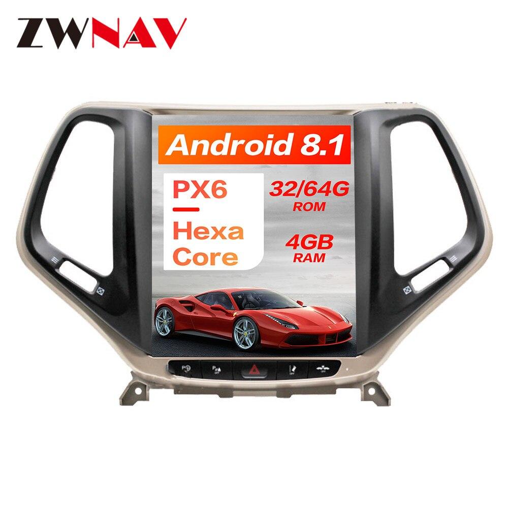Android 8 1 4GB RAM Tesla style Car GPS Navigation For JEEP Cherokee 2014 2019 head