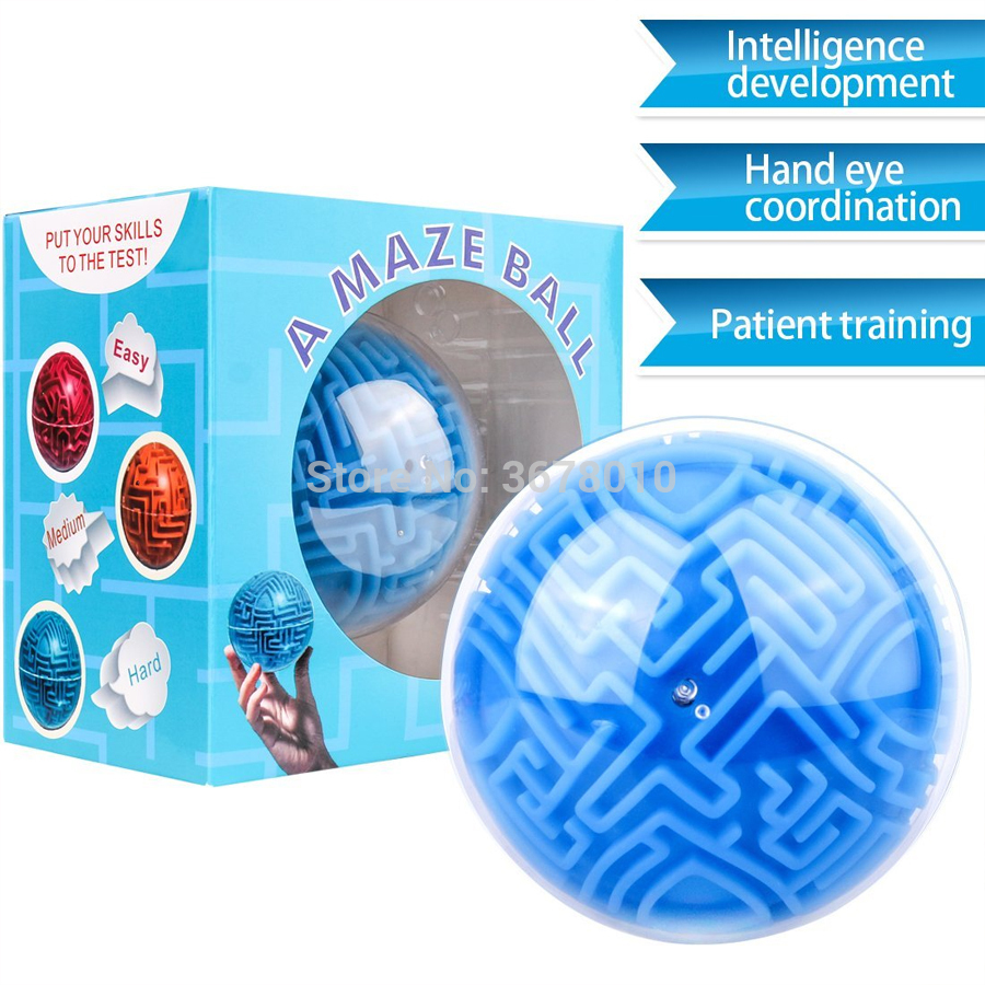 Maze Ball Mini 3D Magic Puzzle Intelligence & Idea Perplexus Maze Game Labyrinth IQ Gifts Display Stand  For Kids And Adults
