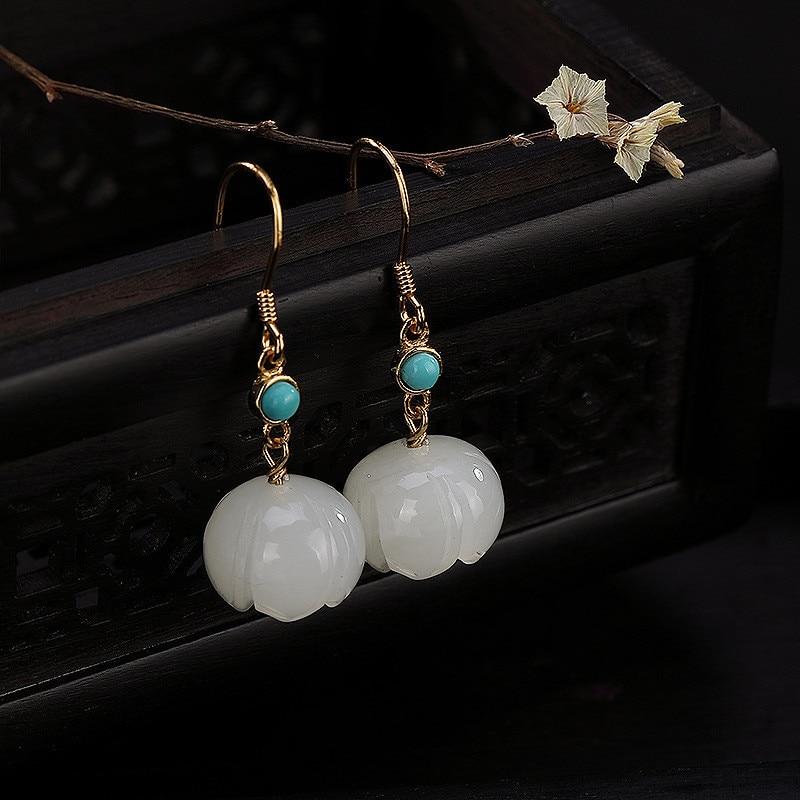 V. YA S925 argent naturel pierre perles boucles d'oreilles 925 en argent sterling prune perle boucles d'oreilles femmes Fine bijoux cadeau