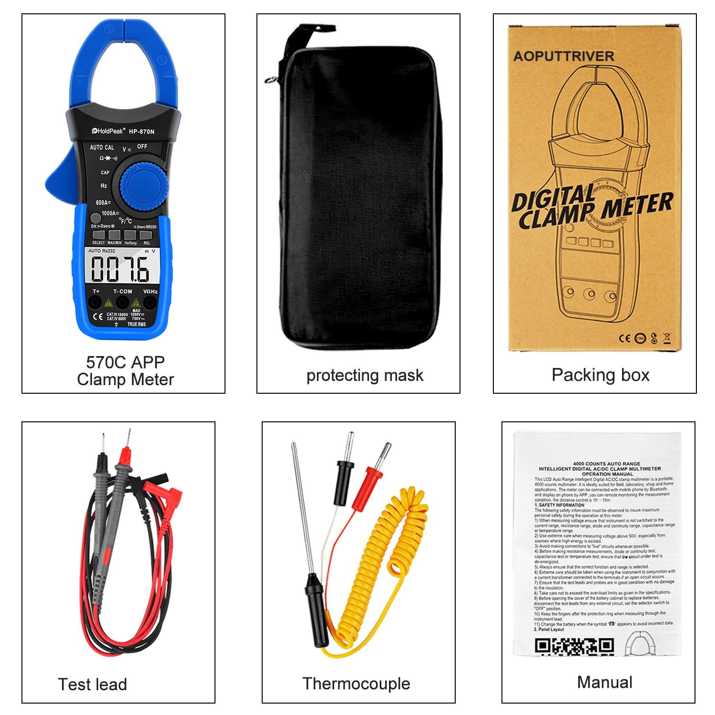 HoldPeak HP-870N Auto Range Multimetro Digital Clamp Meter - Instrumentos de medición - foto 6