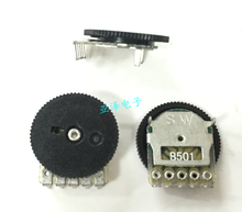 100 pces dial potenciômetro 14*1mm duplo dial potenciômetro b500ohm com potenciômetro roda preta b501