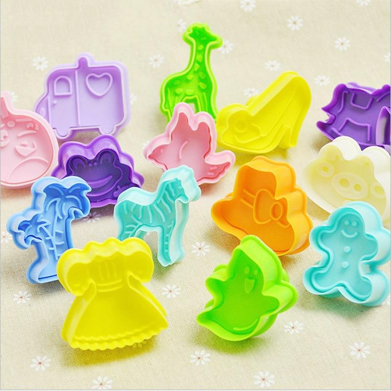 New DIY 3D Animal Vegetables Fruit Plasticine Slime Mold Tool Set Kit Ability Play Dough Clay Educational Toys For Chidlren Gift