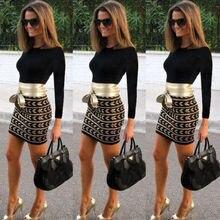 Женское облегающее Бандажное мини-платье с длинным рукавом, офисное модное повседневное облегающее Клубное платье Vestidos