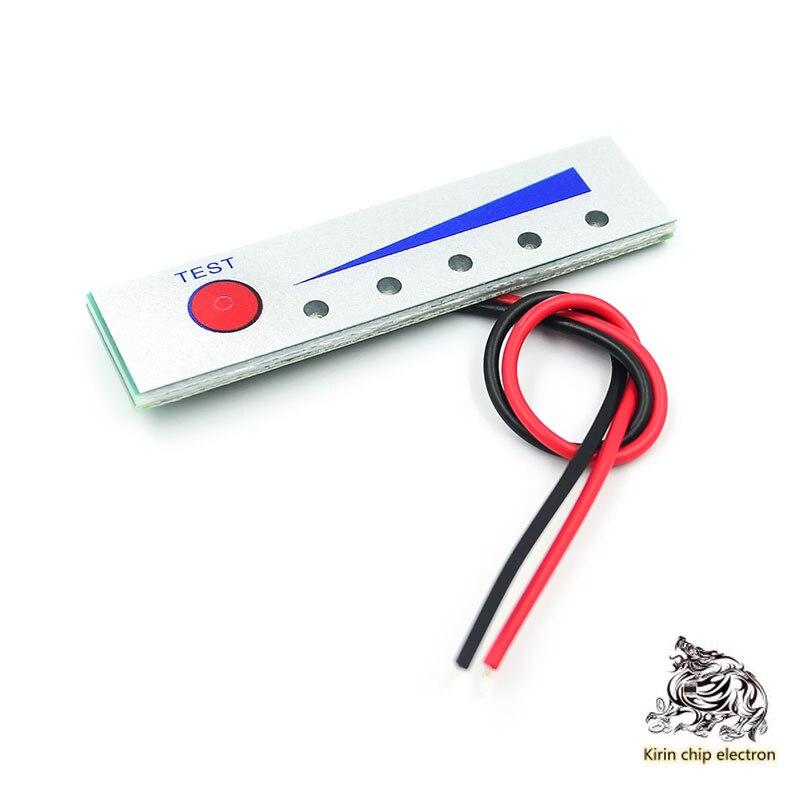 5pcs/lot 12V Lithium-electric Car Battery Dry Battery 2-5 String Lithium Battery Power Display Power Indicator Board