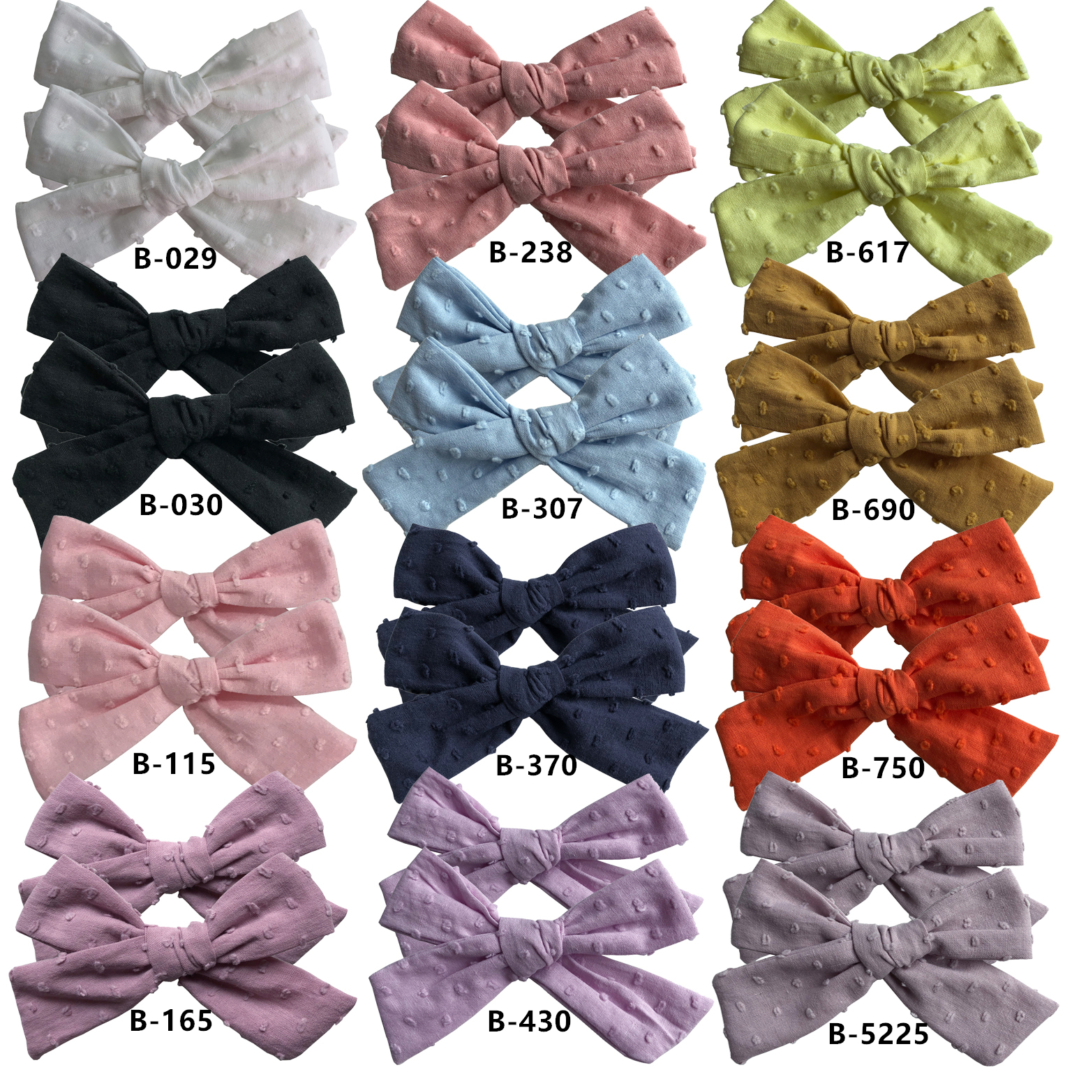 Sweet 2 PCS Cotton Bubble Fabric Piggy Tail Bow Clips Baby Girls Hair Bow Clips Barrettes Hairgrips Headwear Hair Accessories