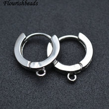 Nickle Free Anti fading Round shape Metal Earring Hooks Jewelry Findings 50pc Per Lot Wholesale Lots Bulk