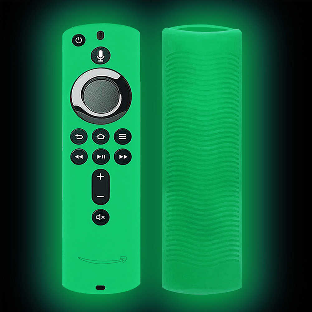 Silicone Practical Protective Case Home Anti Slip Lattice Design Accessories Durable Remote Control Cover For Fire TV Stick 4K