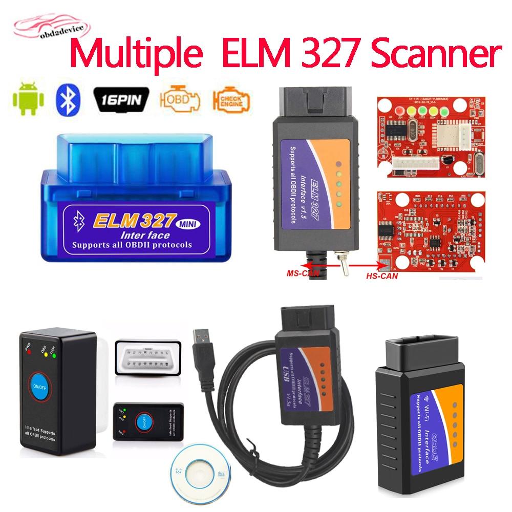 Мини elm327 V1.5 bluetooth считыватель двигателя WiFi ELM 327 OBD2 автомобильный сканер кода ошибок Мини elm327 MS-CAN 327 usb ELM327 Автомобильный сканер