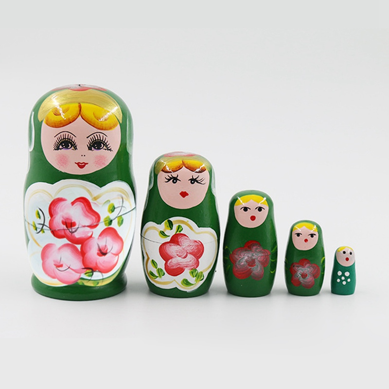 23 Styles 5/10pcs/set Cute Wood Russian Nesting Babushka Matryoshka Doll Hand Paint Toys Craft Toys Home Decoration Kids Gifts
