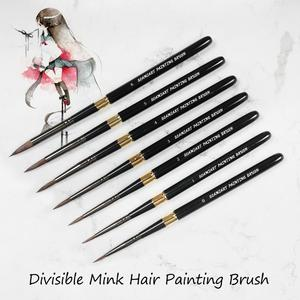 Image 5 - 1PCS Squirrel Hair Paint Brush High Quality Art Painting Brushes Artistic Watercolor Brush for Drawing Art Supplies