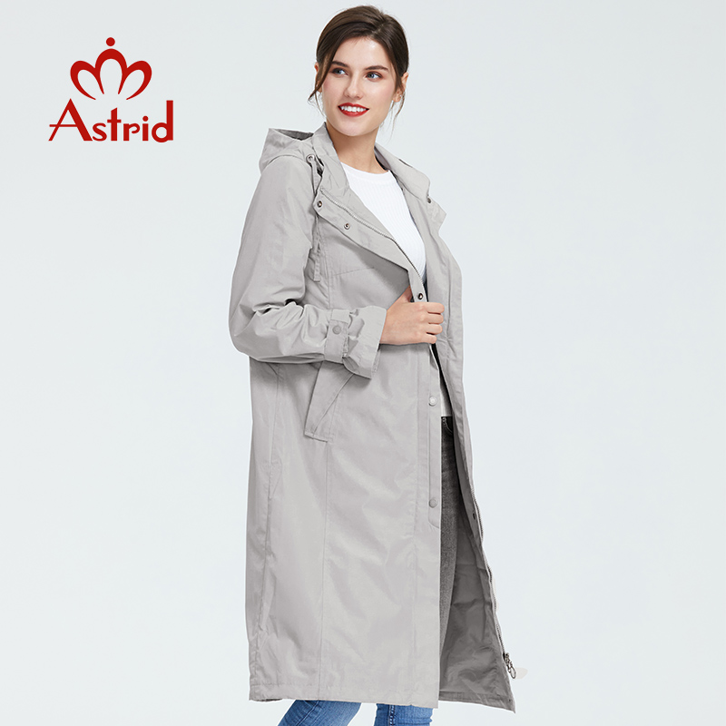 Astrid 2019 Women Trench Coat Big Size Spring  Fashion Long Windbreaker Solid Color Windproof Temperament  Women Coat   AS-6325