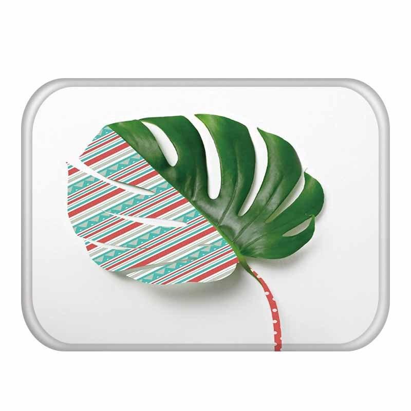 Image 2 - 40 * 60cm Delicate Flower Pattern Rectangular Flannel Soft Carpet  Can Wash Entrance Floor Kitchen Floor, Bathroom Non slip Mat .Rug   -