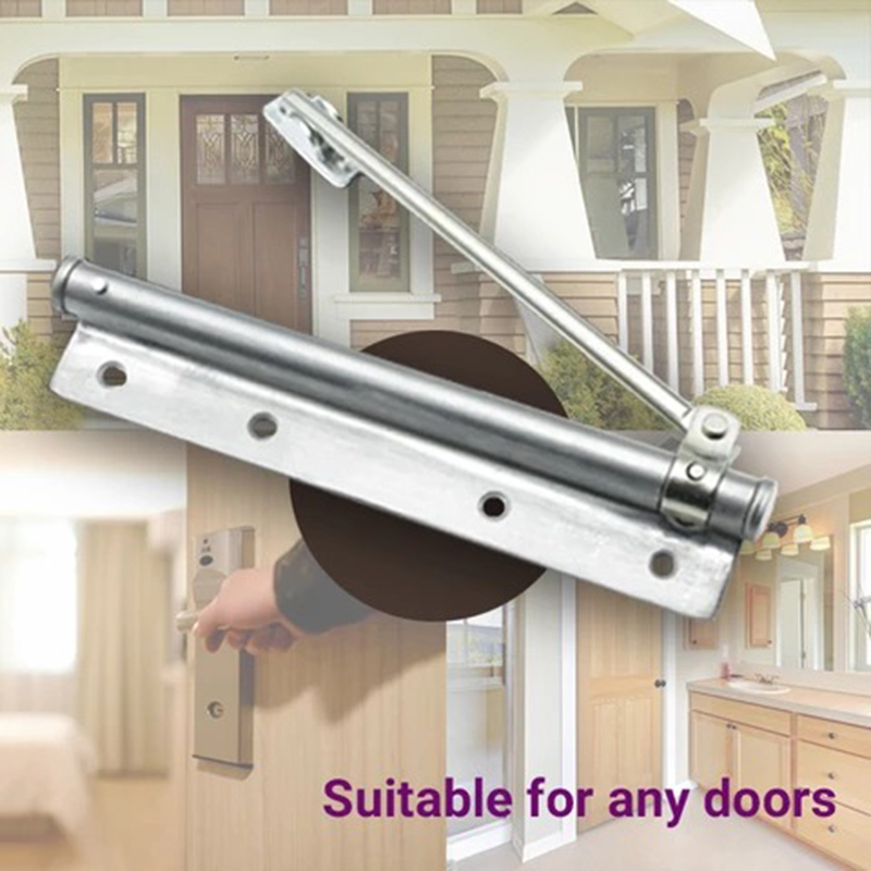 Automatic Door Closer Stainless Steel Fire Rated Automatic Spring Door Closer Strength Adjustable Surface Mounted Door Hardware