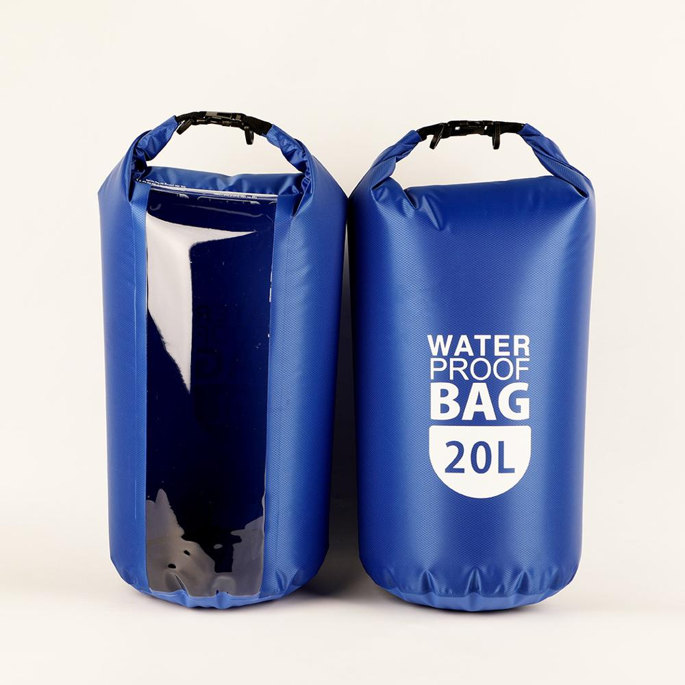 20L / 10L / 2L Waterproof Bag Dry Bag For Camping Swimming Kayaking Rafting Boating Waterproof Bags With Transparent Viewport