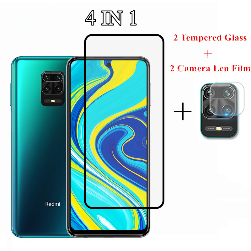 4 in 1 Tempered Glass For Redmi Note 9S 7 8T 8 9 Pro Max 7A 8A Screen Protector Camera Lens Film For Xiaomi Redmi Note 9S Glass(China)