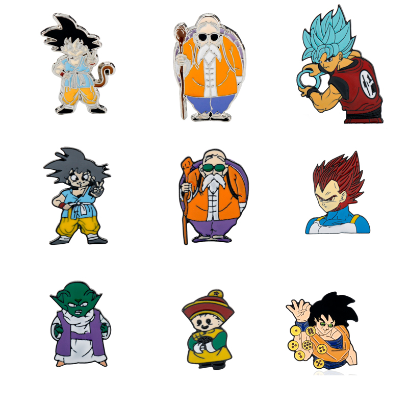 Cartoon Anime Dragon Metal Enamel Pins Brooches for Women Men T-shirt Jewelry Lapel Pin Backpack Bags Badge Kids Gifts