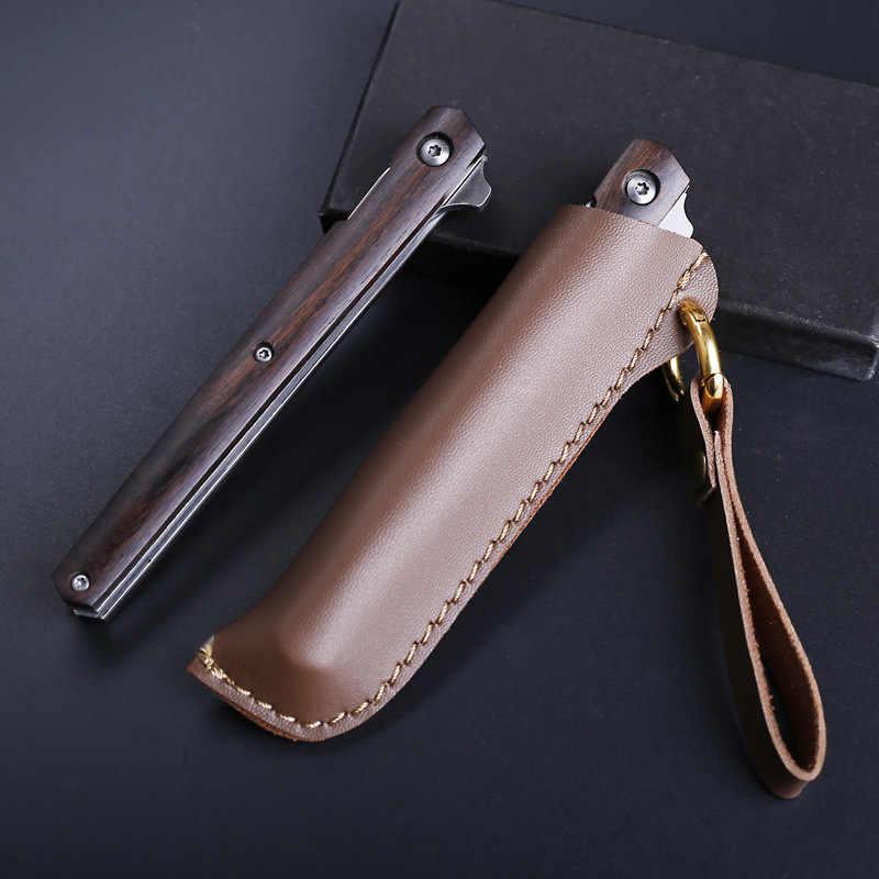 JSSQ katlanır bıçak 7Cr17Mov bıçak ahşap saplı kamp cep bıçaklar açık Survival taktik avcılık Mini taşınabilir EDC araçları
