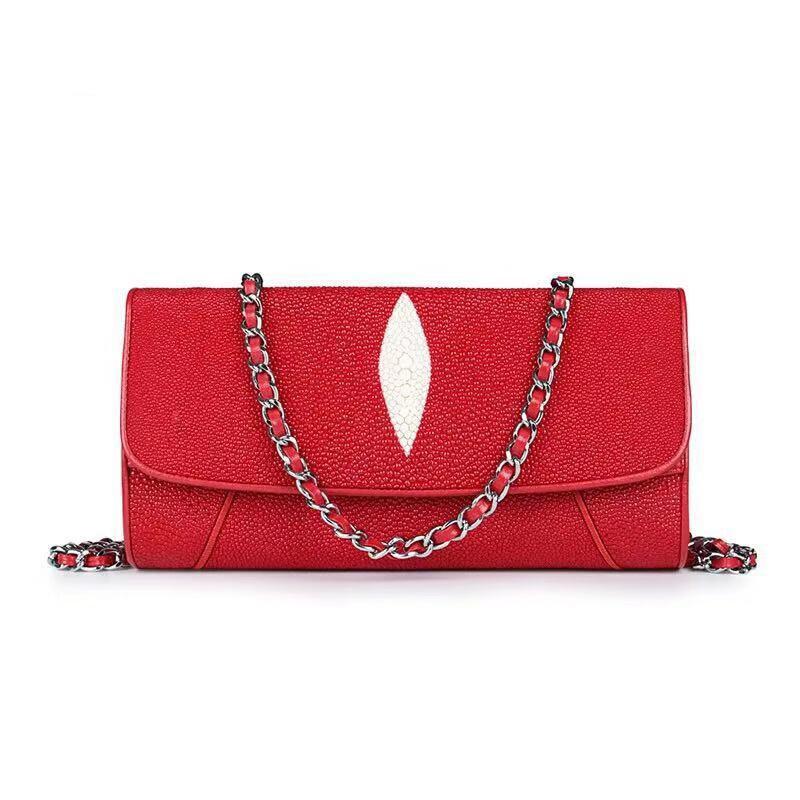 Bags For Women 2020 Luxury Designer Genuine Stingray Skin Women's Evening Bag Chain Shoulder Messenger Bag Mochila Feminina Sac