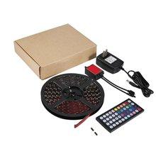 ICOCO 150LED 5 м гибкие SMD 5050 RGB водонепроницаемый светодиодные полосы света бар с 44-кнопочный пульт для ТВ украшение шт подсветка