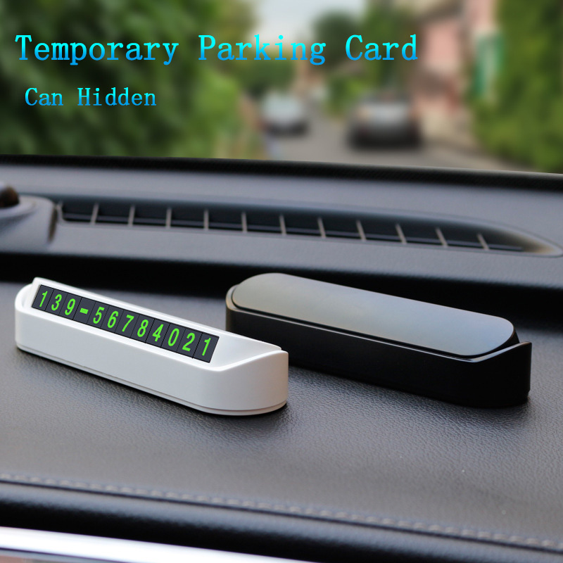 Car Temporary Parking Card Phone Number Card Plate Telephone Number Car Park Stop Automobile Accessories Car-styling 13x2.5cm(China)