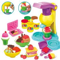 Kids Girls DIY Colorful Simulate Plasticine Ice Cream Maker Set Play House Puzzles Toy Baby Kids Pretend Play Educational Toys