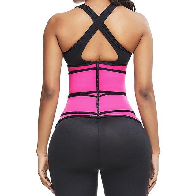 Women Sweat Waist Trainer Corse Belt Neoprene Slimming Body Shaper With Sticker Postpartum Recovery Tummy Control Plus size 2