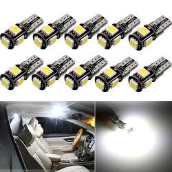 Lumière dôme intérieur de voiture 10 x W5W T10 LED, ampoule pour Toyota C-HR CHR RAV4, Camry Corolla 2016, 2017, 2018