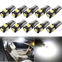 10 x w5w t10 lâmpada led interior do carro luz para alfa romeo 159 147 156 5 giulietta mito gt 166 brera gtv 164 aranha 2 6 75 146 145