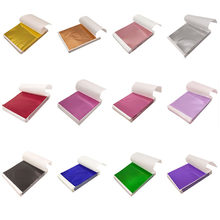 Papier artisanal Imitation or argent cuivre, 100 pièces, 9x9cm 14x14cm, feuilles de papier de dorure autocollants