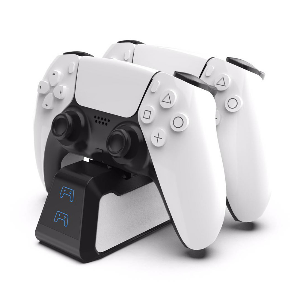 Dual Fast Charger for PS5 Wireless Controller USB 3.1 Type-C Charging Cradle Dock Station