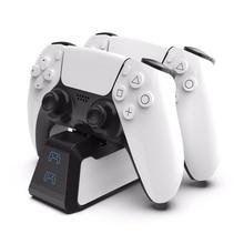 Двойное быстрое зарядное устройство для PS5 беспроводной контроллер USB 3,1 Type-C зарядная док-станция для Sony PlayStation5 Джойстик Геймпад