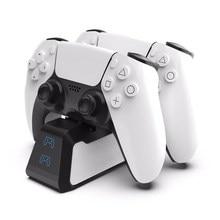 Double chargeur rapide pour PS5 contrôleur sans fil USB 3.1 type-c Station d'accueil de berceau de charge pour Sony PlayStation5 manette de jeu