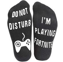 YOOAP Unisex Novelty Socks Do Not Disturb I Am Gaming Funny Letter Printed Socks  IF YOU CAN READ THIS  Funny WOMEN MEN SOCKS цена и фото