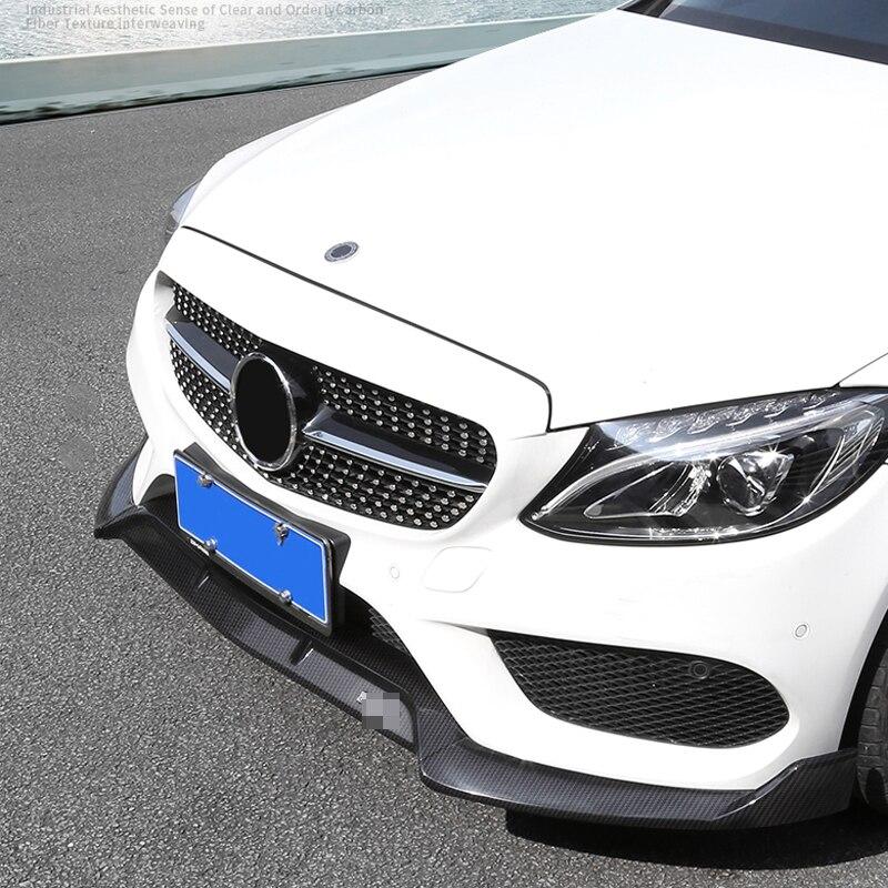 Комплект разветвителей для переднего бампера для Mercedes Benz C Class W205 C205 Sport Version C180 C200 C250 C260 300 для Brabus