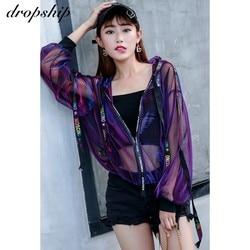 Dropship Coat Women Jackets Harajuku Coats And Jacket Streetwear Windbreaker 2019 Loose Ribbon Baseball Uniform Sun Summer