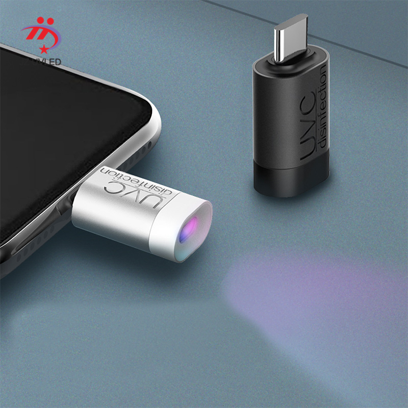 Portable UVC Disinfection UV LED Light Mobile Phone USB Interface Plug Power Supply Factory OEM Wholesale 275 Nm UVC Program