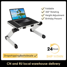 Laptop Desk Ergonomic Book-Stand Computer-Table Living-Room for Bed 360-Degree