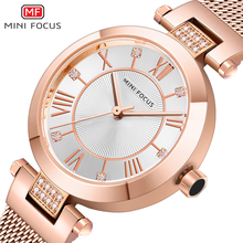 MINIFOCUS Women Watches Waterproof Rose Gold Stainless Steel Mesh Strap Brand Luxury Fashion Casual Ladys Watch Reloj Mujer Relogio Feminino Montre Femme