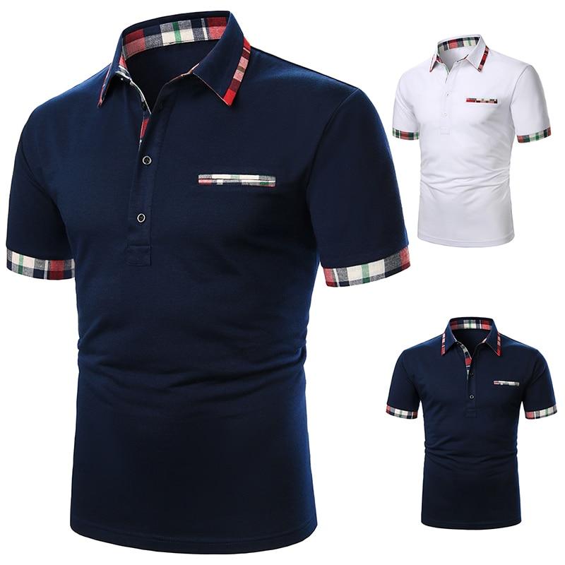 Футболка мужская с коротким рукавом, рубашка контрастных цветов, Повседневная модная уличная одежда, лето