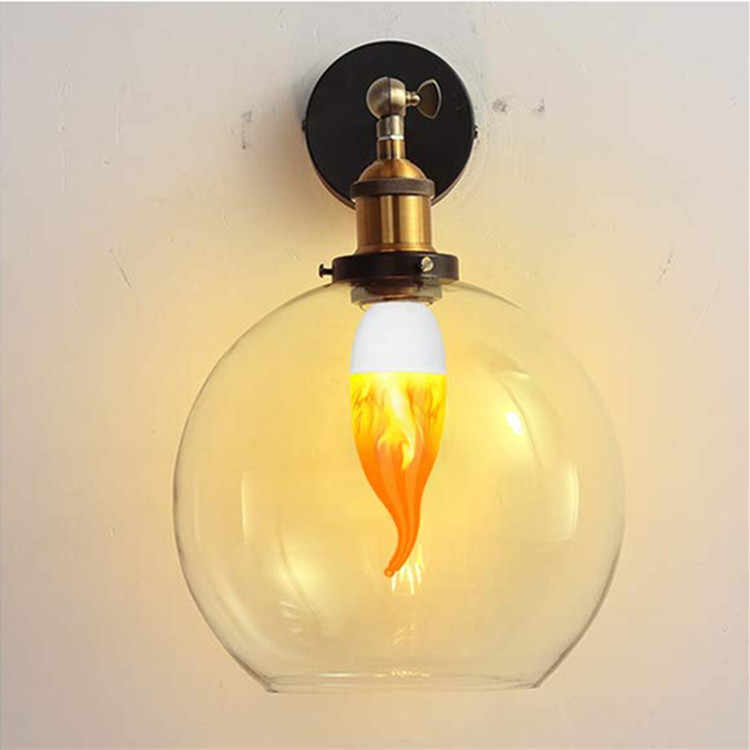 Lámpara de vela LED de 9W, E27, E14, E12, Bombilla de llama 85-265V, bombillas LED con efecto de llama de fuego, lámpara LED de decoración parpadeante