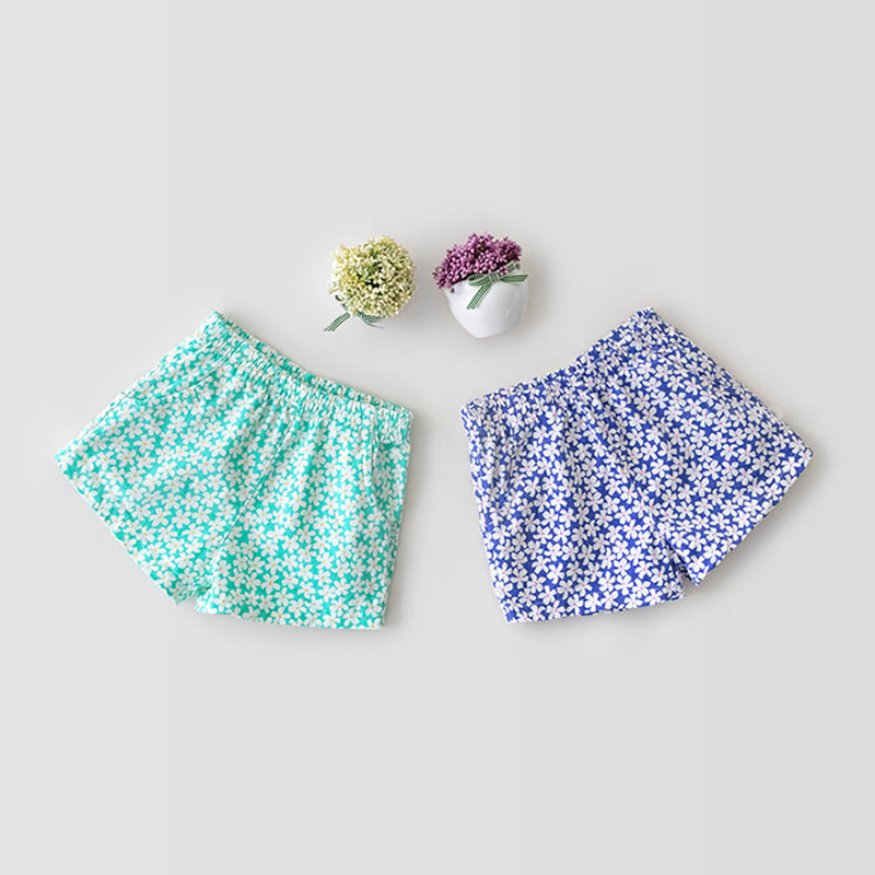 Summer Kids Girls Shorts Floral Baby Girls Shorts Cotton Short Pants Fashion Children Newborn Sunshorts Outfits 6 Months-3 Years