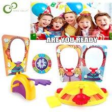 Pastel de crema de Pie en la cara, juego divertido, aparatos divertidos, broma, juguetes antiestrés, máquina de broma, juguete para regalo ZXH