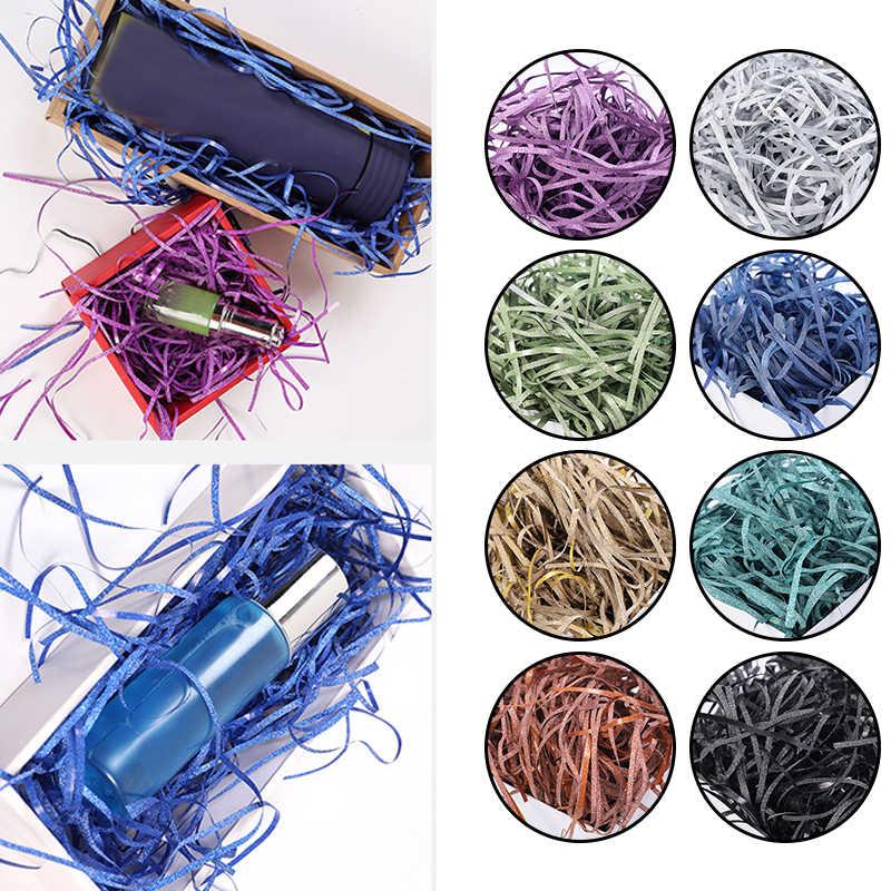50 กรัม/ถุง Glitter Shredded กระดาษทิชชูกระดาษ Confetti ของขวัญกล่องตะกร้า FILLER สำหรับงานแต่งงานวันเกิดโปรดปรานบรรจุภัณฑ์อุปกรณ์