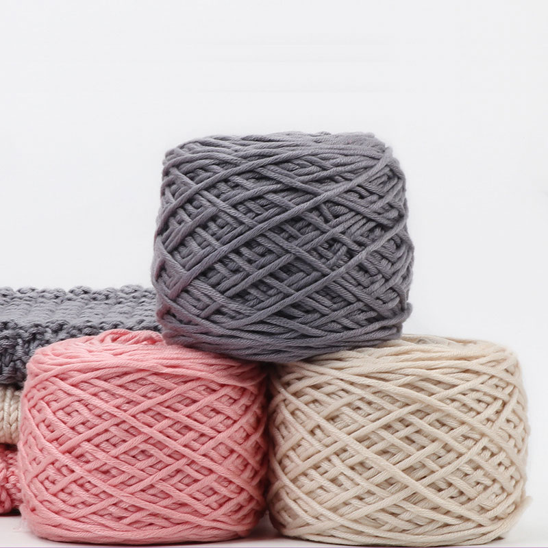 Jiwuo 200g Soft Silk Milk Cotton Yarn Thick Yarn Knitting Lover Scarves Hand Knitting Wool Crochet Yarn Weave Thread DIY Sweater
